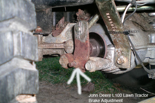 HOW TO John Deere L100 Lawn 42 Tractor Mower Brake